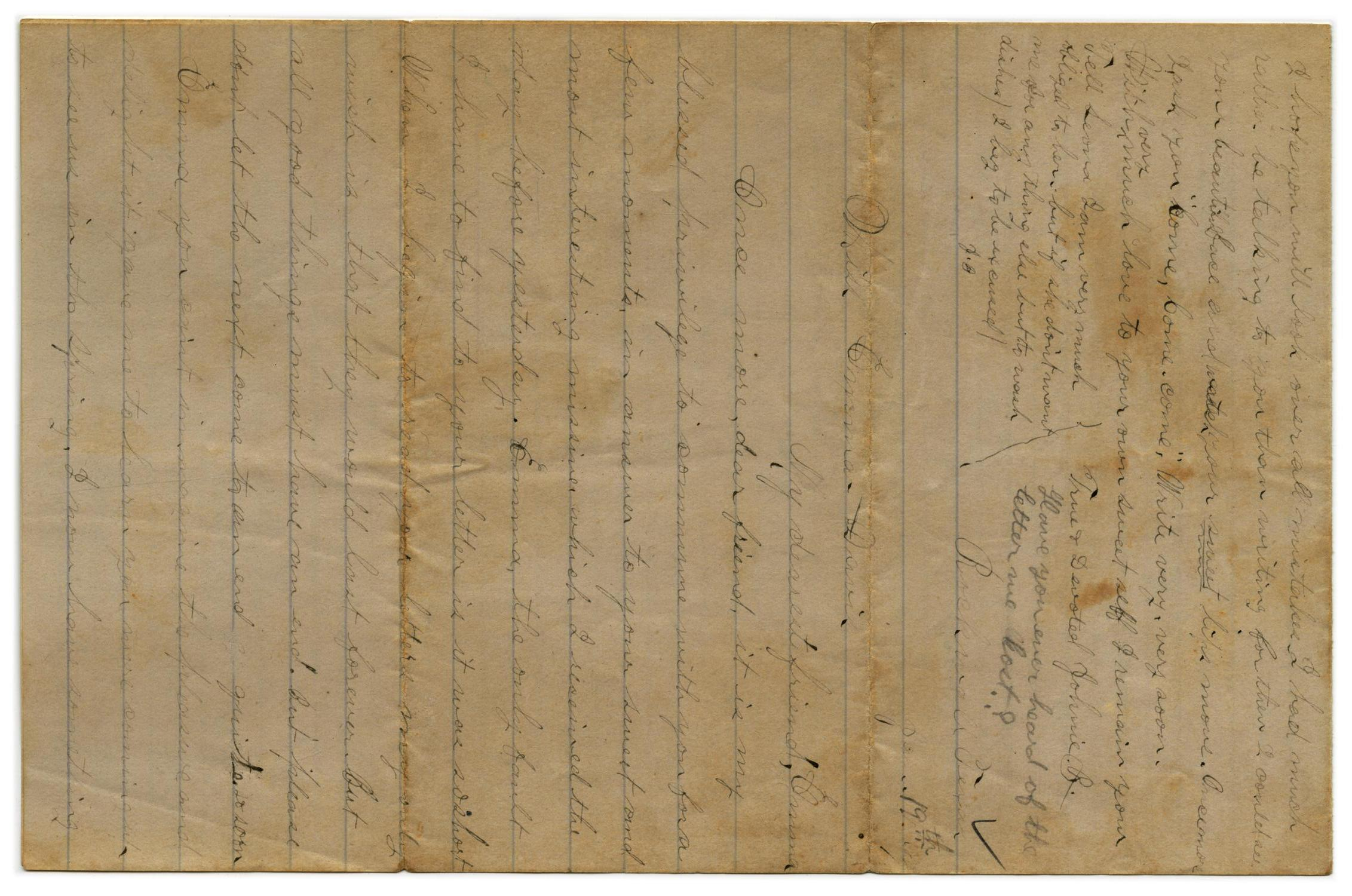 [Letter from John C. Brewer to Emma Davis, January 19, 1879]                                                                                                      [Sequence #]: 1 of 3