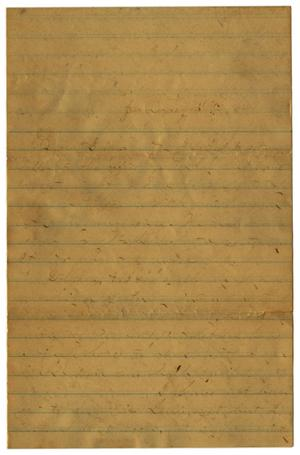 Primary view of object titled '[Letter from John C. Brewer to Emma Davis, January 30, 1879]'.