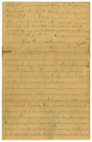 Primary view of object titled '[Letter from John C. Brewer to Emma Davis, March 23 & 24, 1879]'.