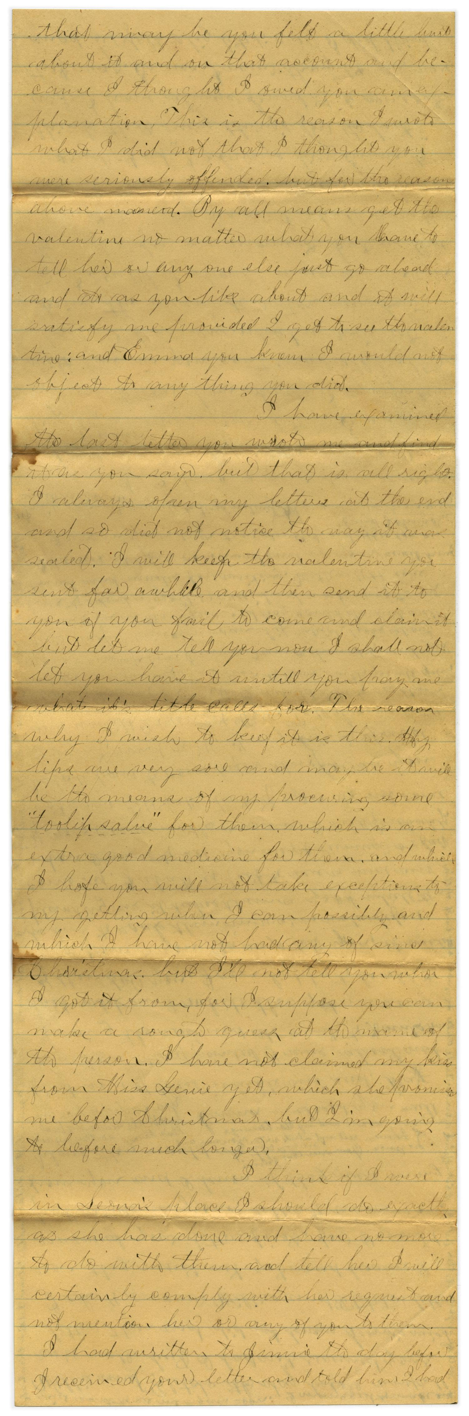 [Letter from John C. Brewer to Emma Davis, March 23 & 24, 1879]                                                                                                      [Sequence #]: 5 of 6