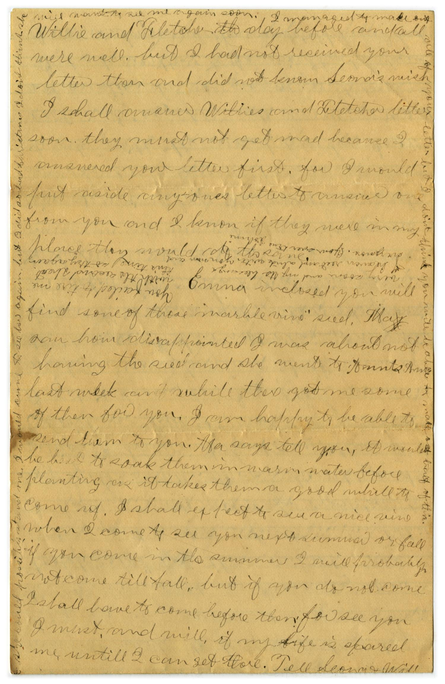 [Letter from John C. Brewer to Emma Davis, March 23 & 24, 1879]                                                                                                      [Sequence #]: 6 of 6