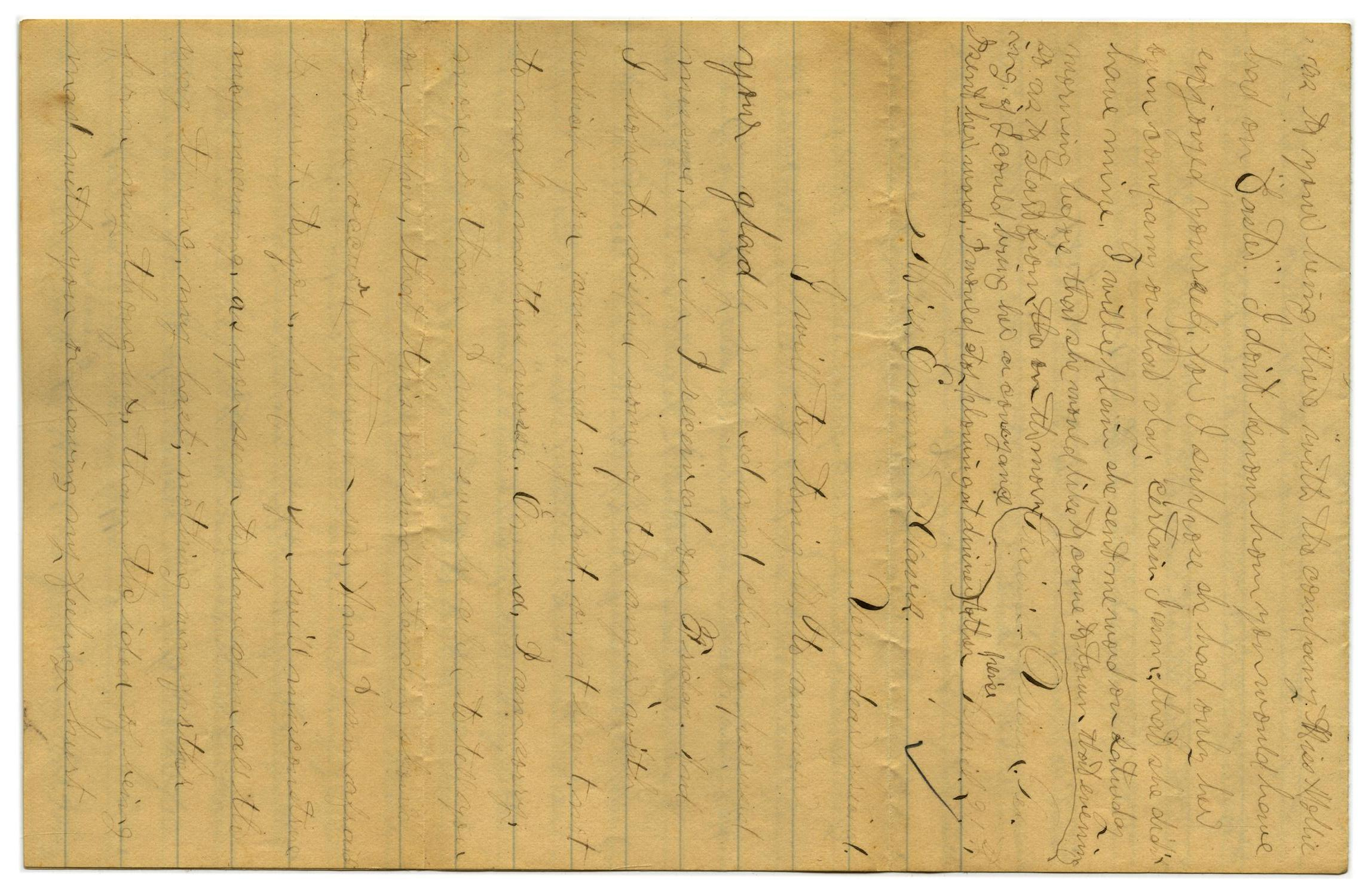 [Letter from John C. Brewer to Emma Davis, April 21, 1879]                                                                                                      [Sequence #]: 1 of 6