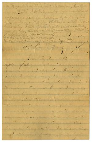 Primary view of object titled '[Letter from John C. Brewer to Emma Davis, April 21, 1879]'.