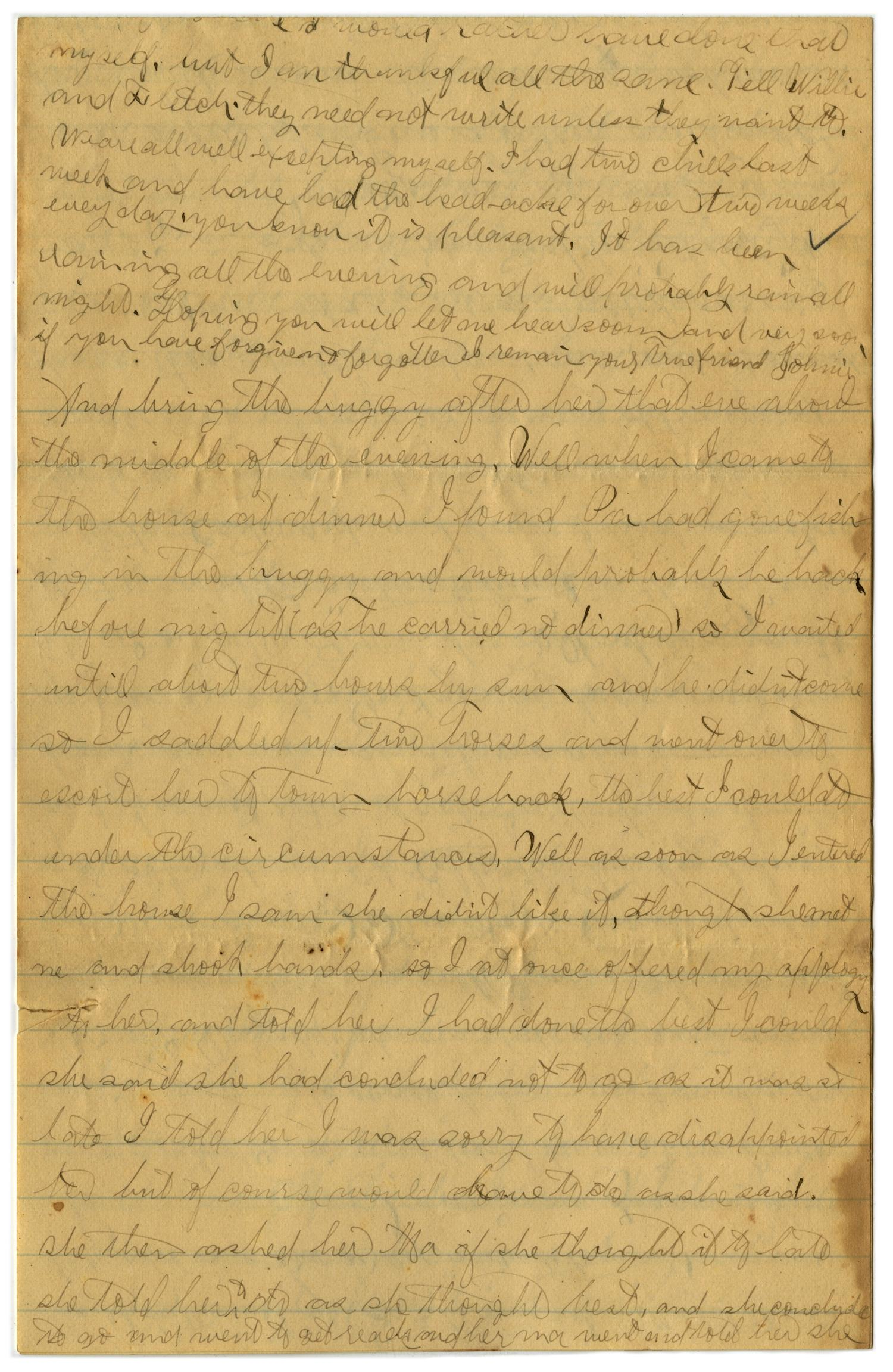[Letter from John C. Brewer to Emma Davis, April 21, 1879]                                                                                                      [Sequence #]: 4 of 6