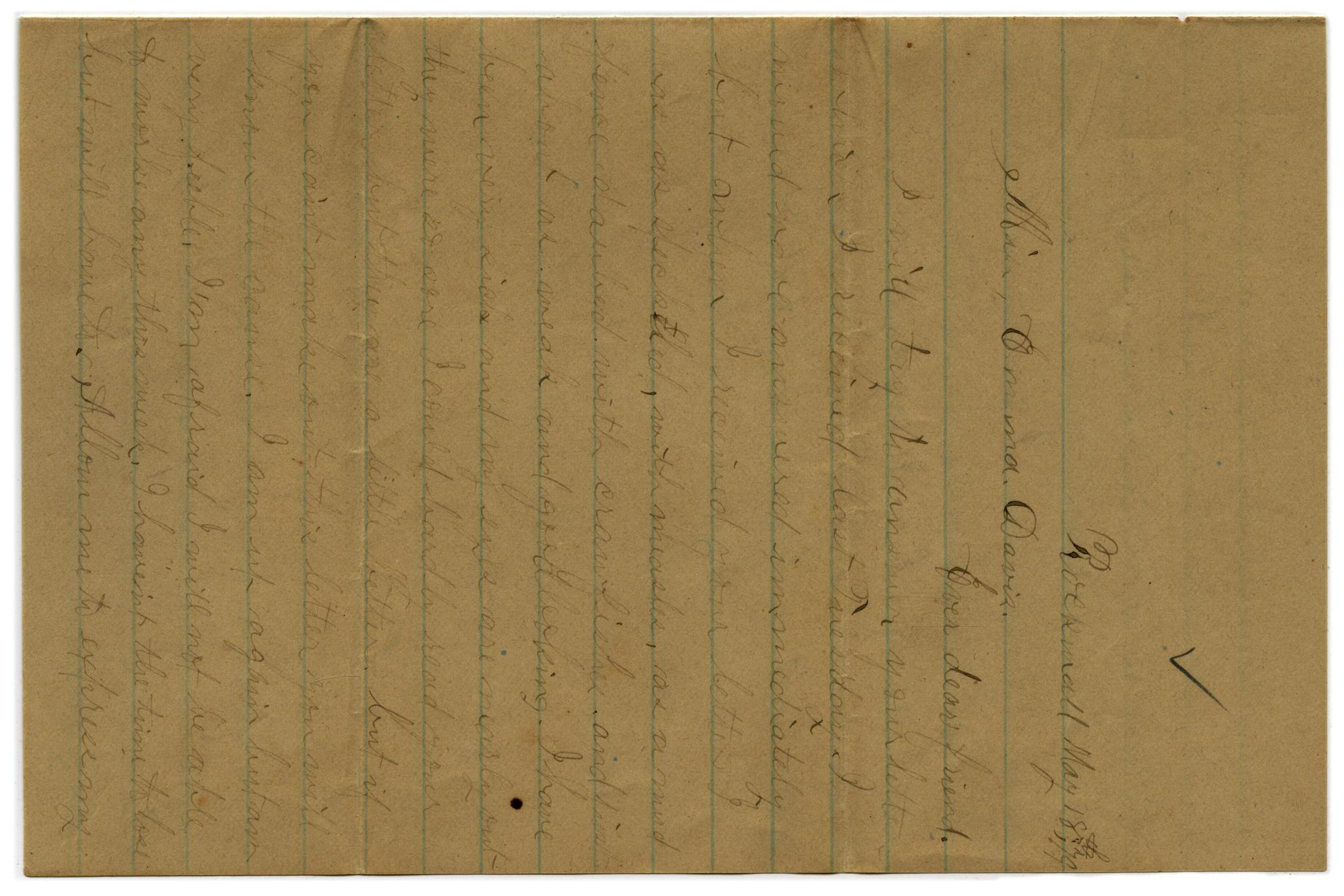 [Letter from John C. Brewer to Emma Davis, May 18 & 19, 1879]                                                                                                      [Sequence #]: 1 of 6