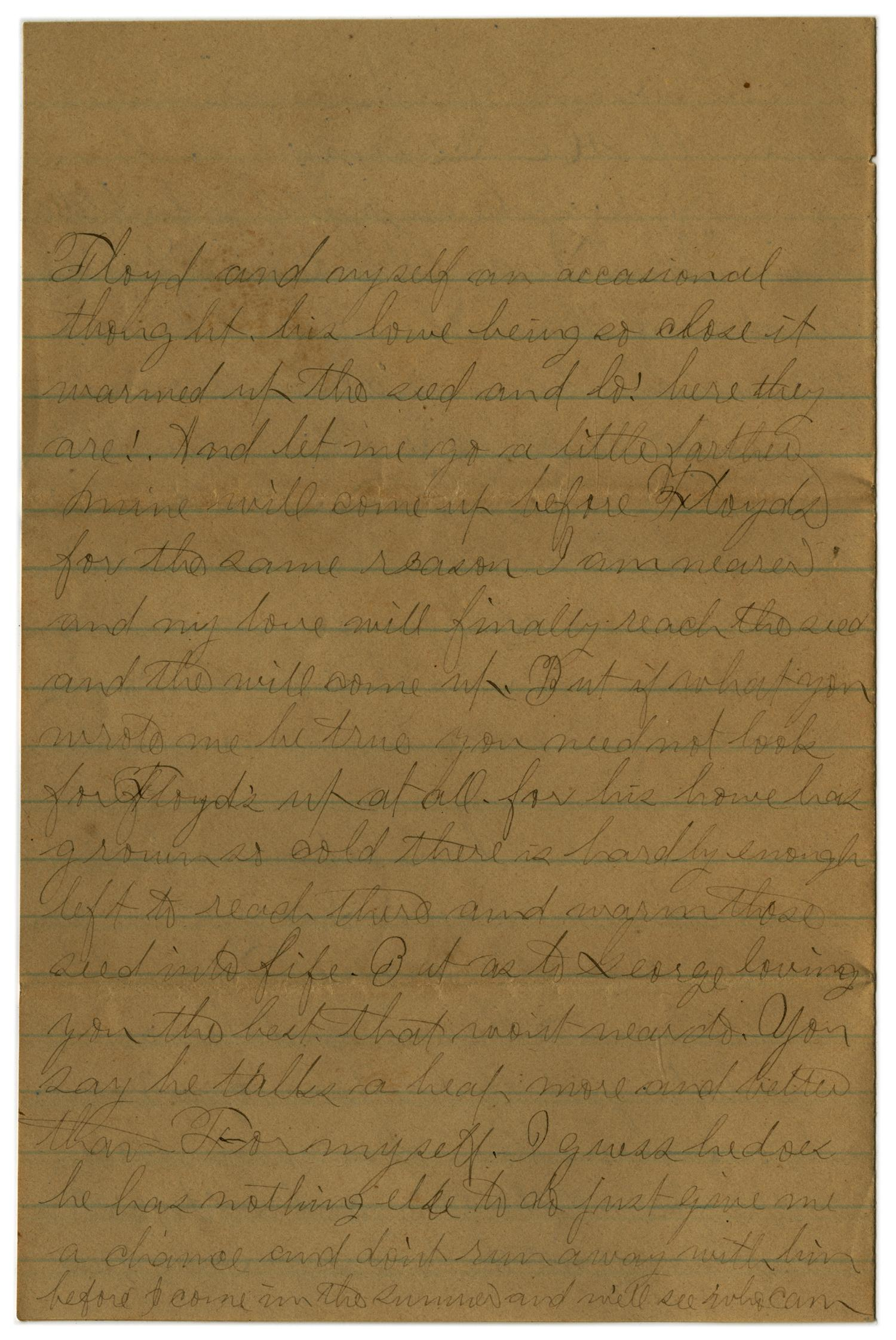 [Letter from John C. Brewer to Emma Davis, May 18 & 19, 1879]                                                                                                      [Sequence #]: 3 of 6