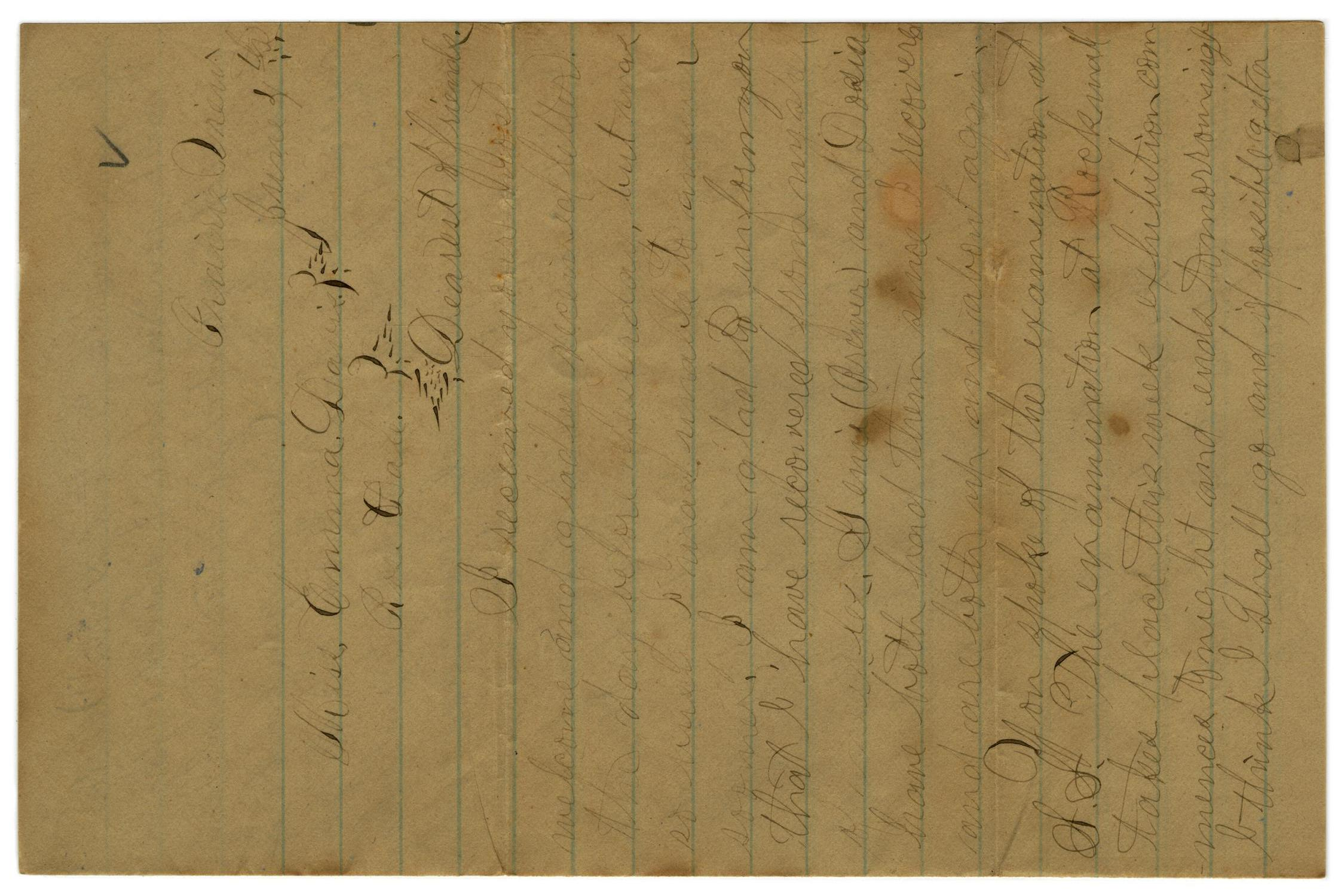 [Letter from John C. Brewer to Emma Davis, June 4, 1879]                                                                                                      [Sequence #]: 1 of 6