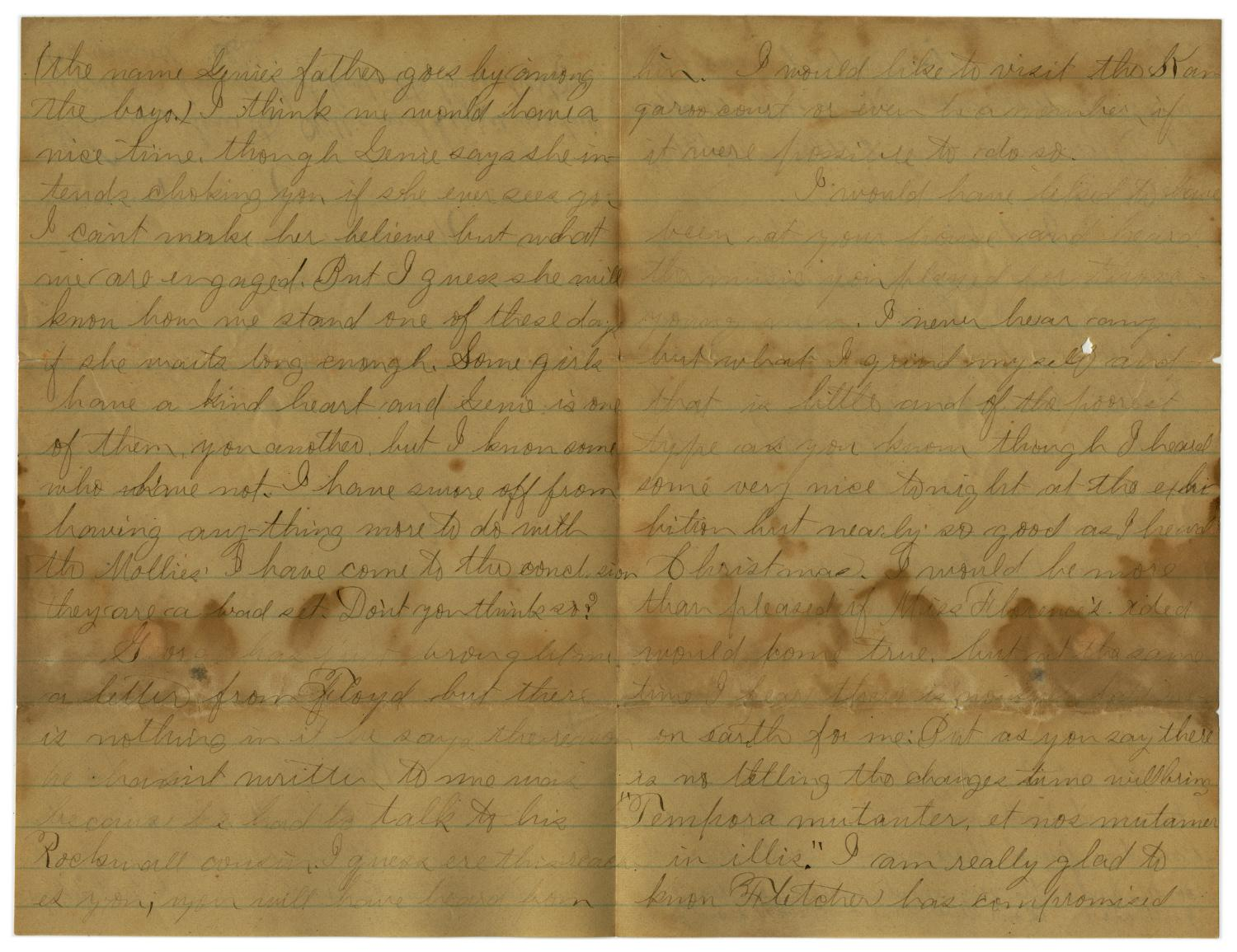 [Letter from John C. Brewer to Emma Davis, June 4, 1879]                                                                                                      [Sequence #]: 5 of 6