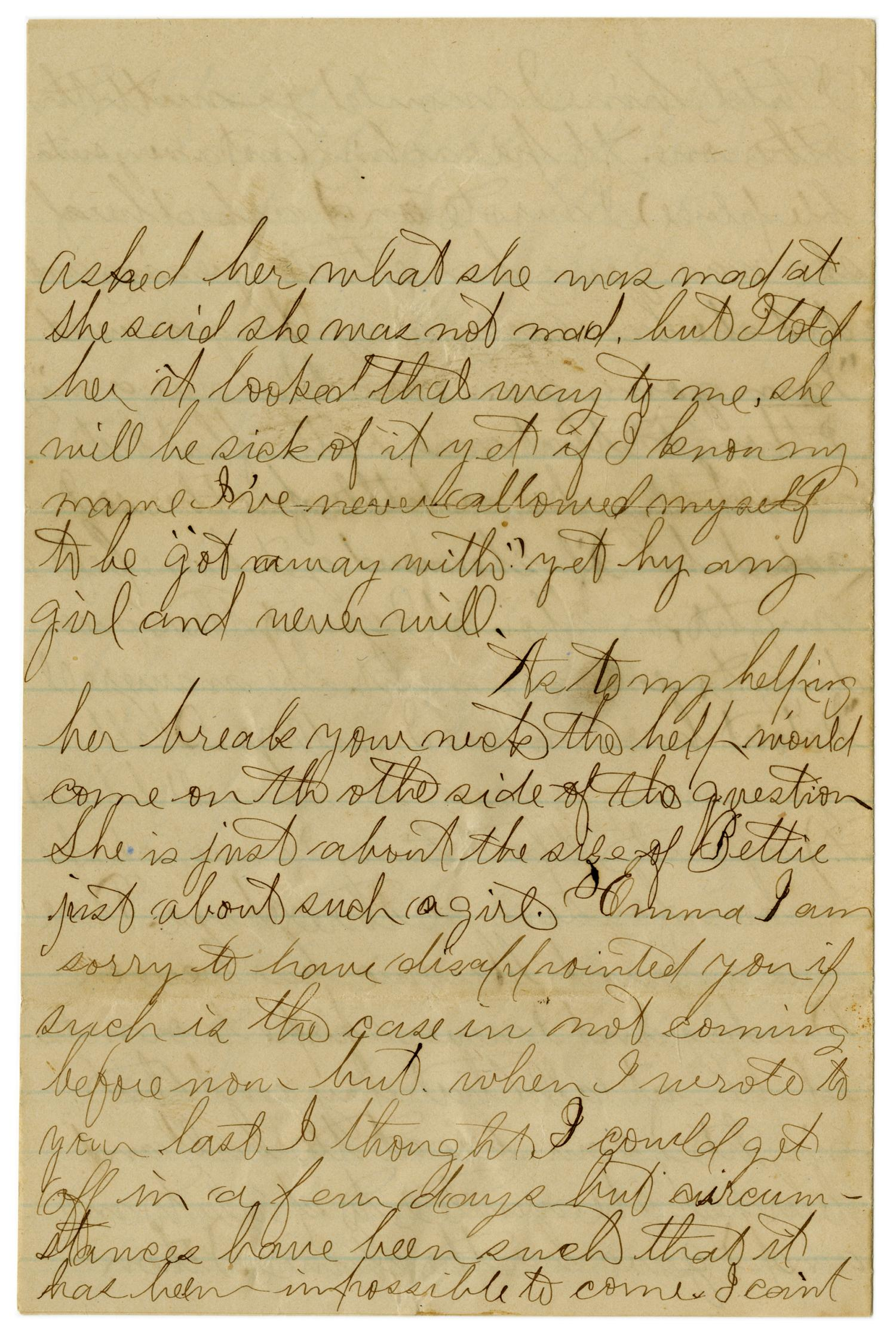 [Letter from John C. Brewer to Emma Davis, June 18, 1879]                                                                                                      [Sequence #]: 3 of 6