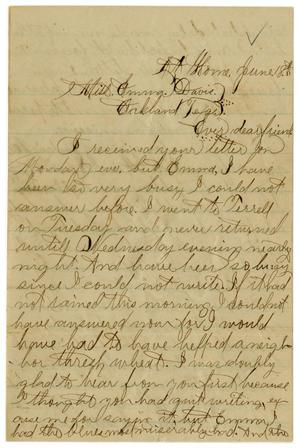 [Letter from John C. Brewer to Emma Davis, June 18, 1879]