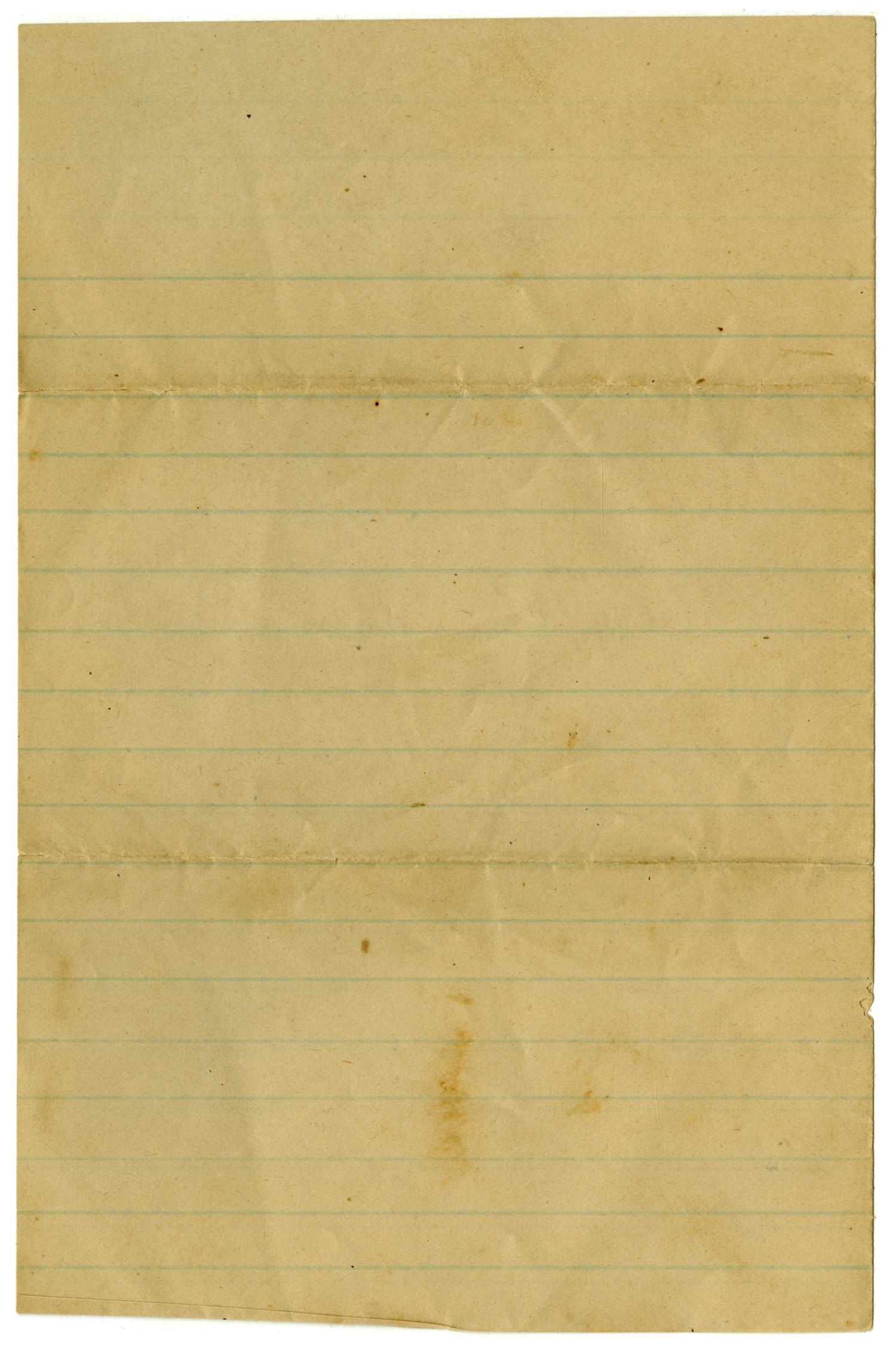 [Letter from John C. Brewer to Emma Davis, August 9, 1879]                                                                                                      [Sequence #]: 3 of 3