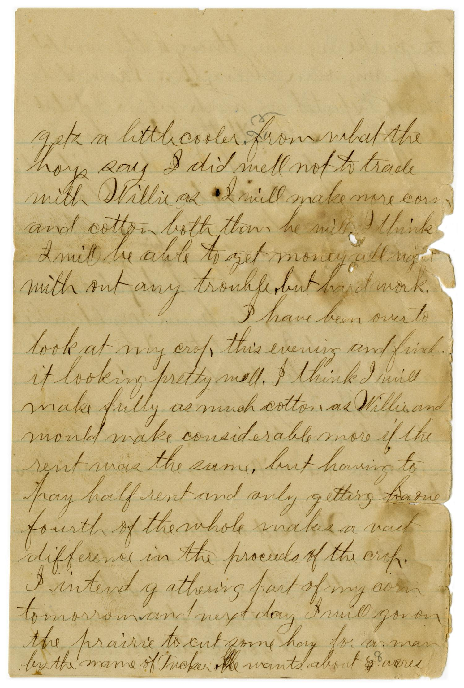 [Letter from John C. Brewer to Emma Davis, August 24, 1879]                                                                                                      [Sequence #]: 3 of 5