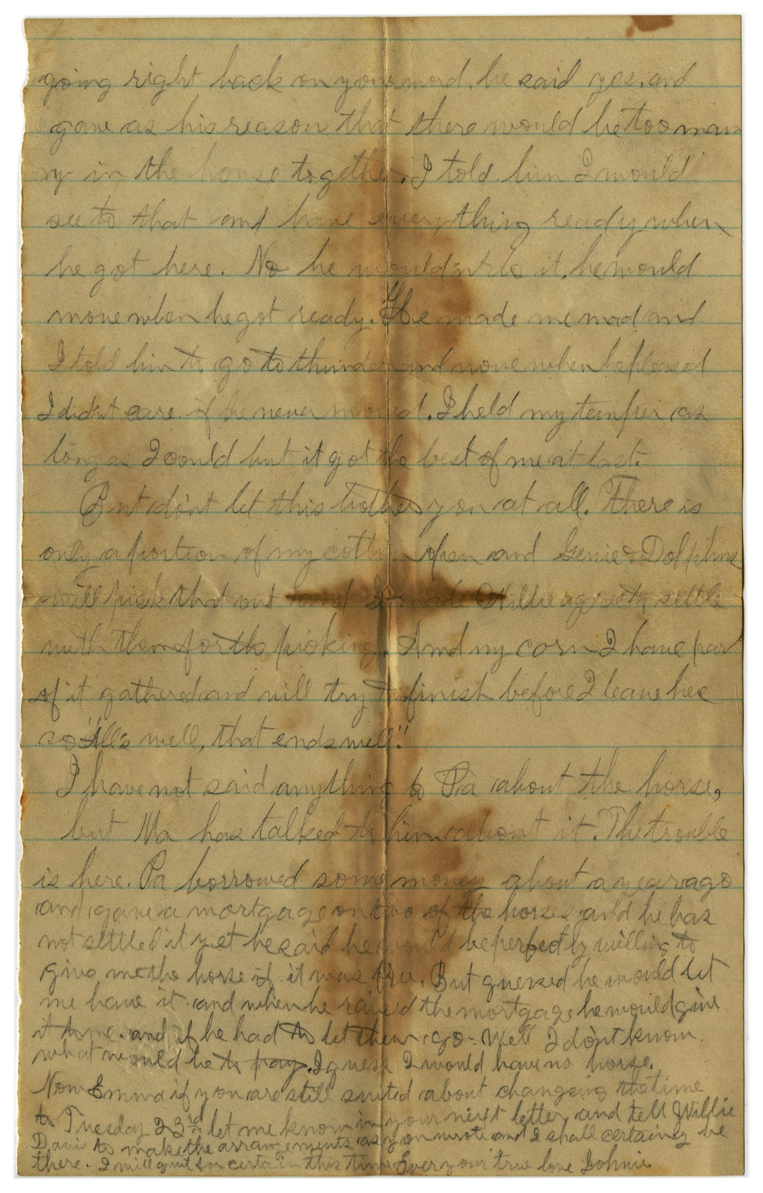 [Letter from John C. Brewer to Emma Davis, August 24, 1879]                                                                                                      [Sequence #]: 5 of 5