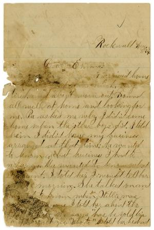[Letter from John C. Brewer to Emma Davis, August 24, 1879]