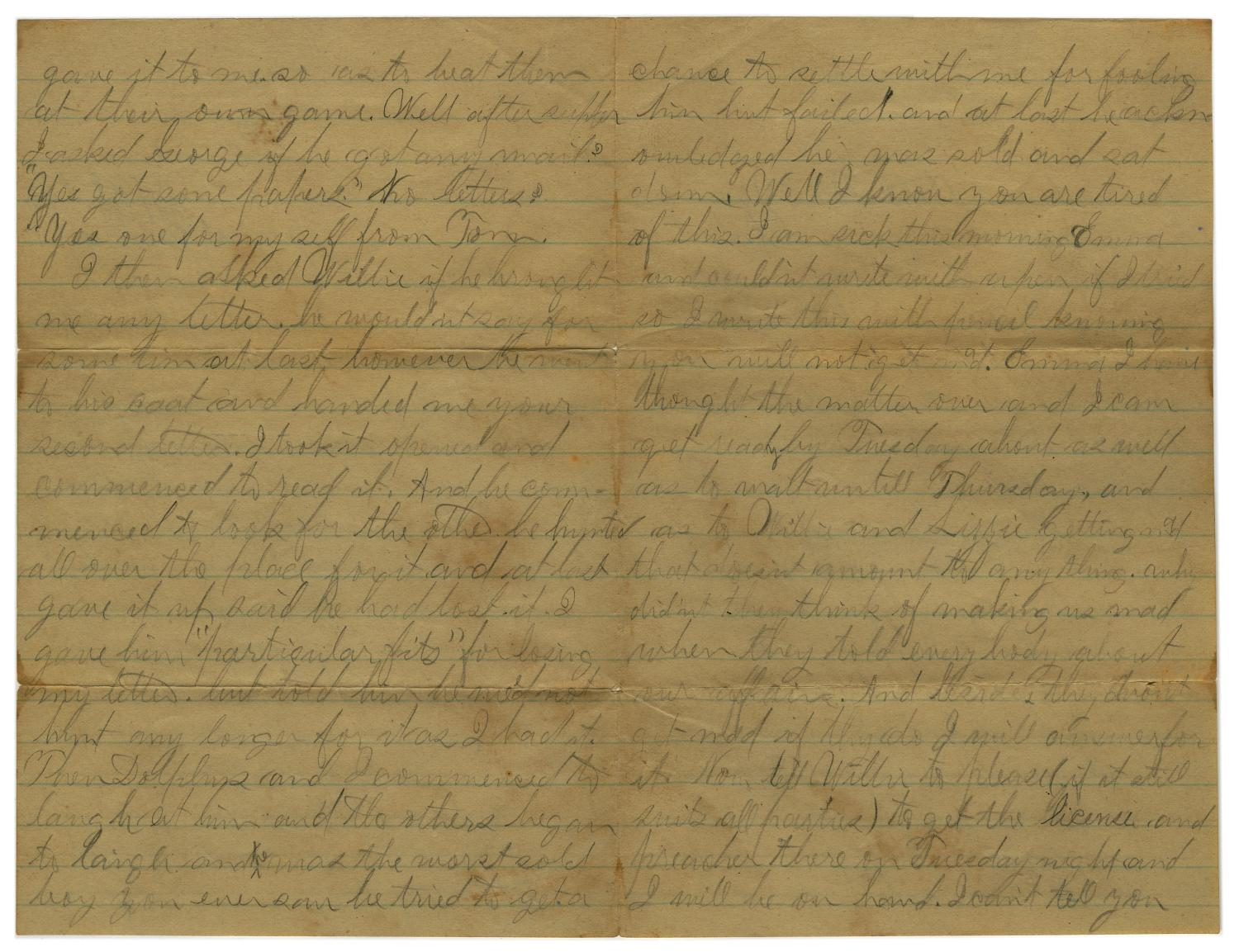 [Letter from John C. Brewer to Emma Davis, September 3, 1879]                                                                                                      [Sequence #]: 2 of 6
