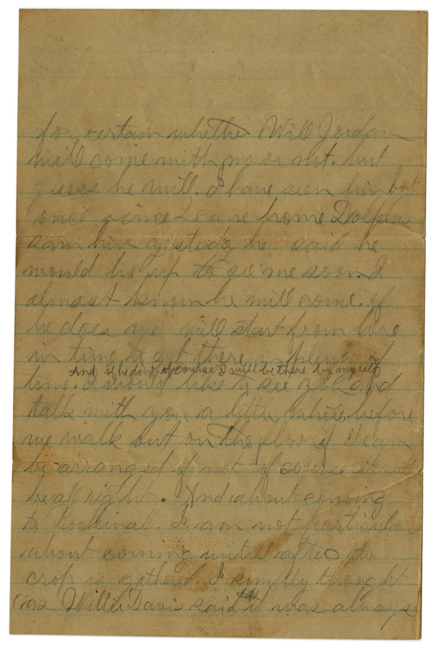 [Letter from John C. Brewer to Emma Davis, September 3, 1879]                                                                                                      [Sequence #]: 3 of 6