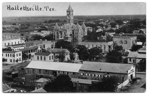 Primary view of object titled 'Birdseye View of Hallettsville, Texas'.