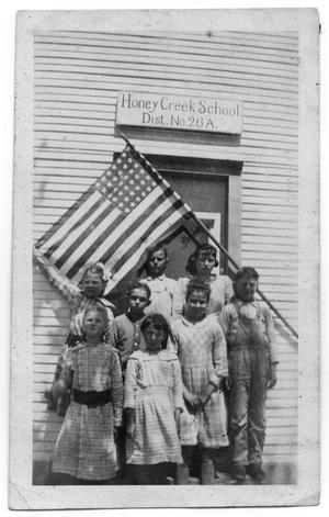 Primary view of object titled 'Honey Creek School'.