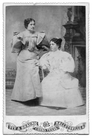 Primary view of object titled '[Portrait of Two Unknown Women]'.