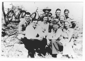 Primary view of object titled '[Group with Bicycles]'.