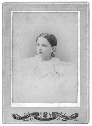 Primary view of object titled '[Portrait of an Unknown Girl]'.