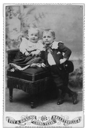 Primary view of object titled '[Portrait of an Unknown Boy and Girl]'.