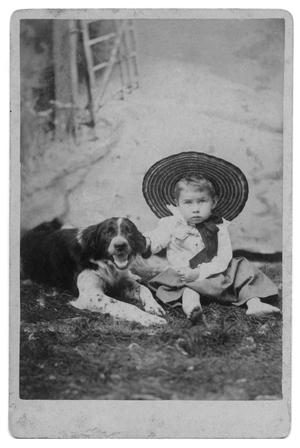 Primary view of object titled '[Portrait of an Unknown Child With Dog]'.