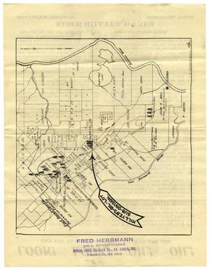 Primary view of object titled '[Kinch Hillyer Map and Advertisement]'.