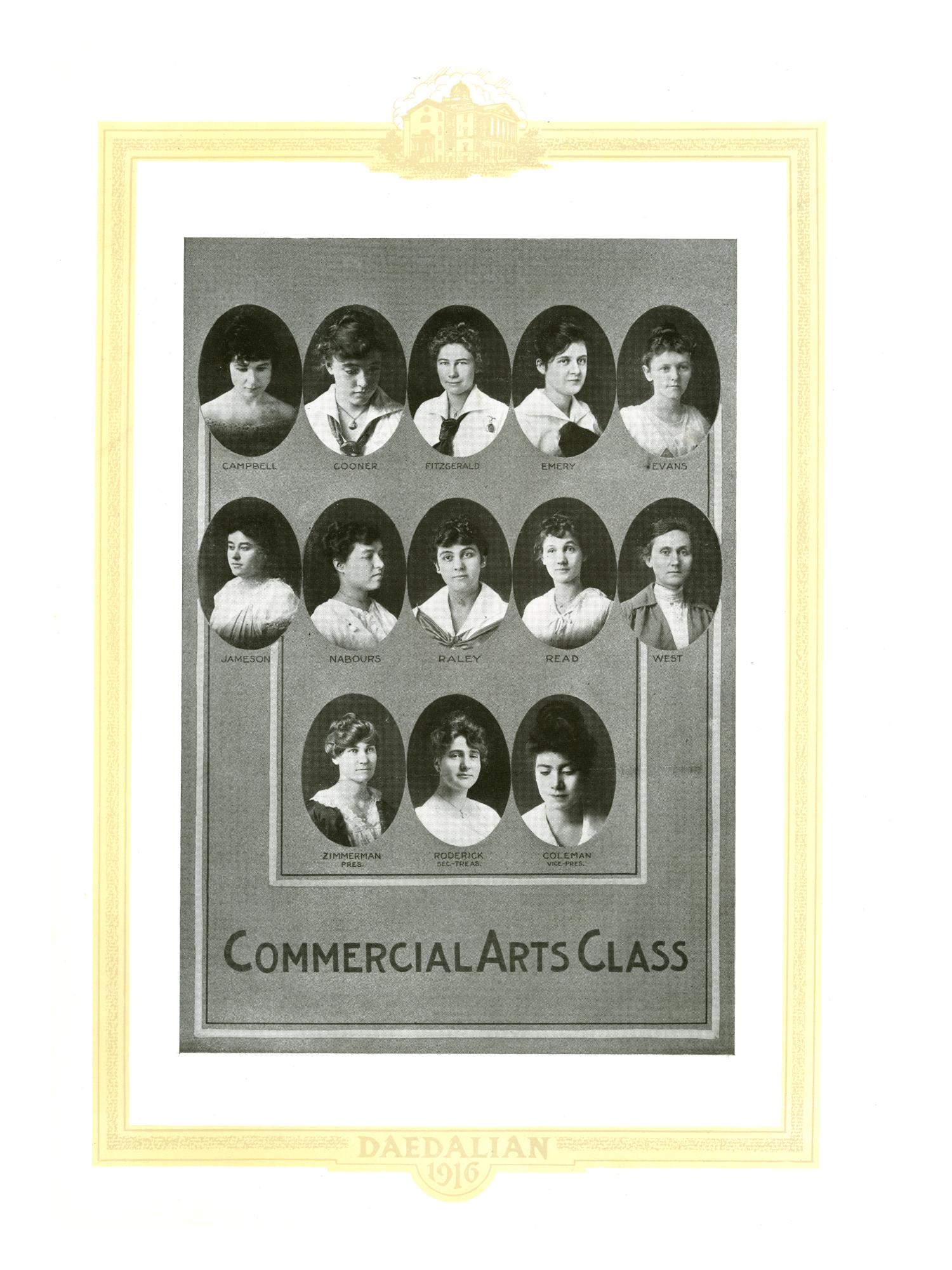 The Daedalian, Yearbook of the College of Industrial Arts, 1916                                                                                                      117