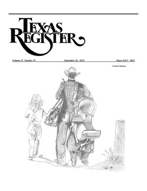 Primary view of object titled 'Texas Register, Volume 35, Number 39, Pages 8545-8822, September 24, 2010'.