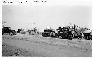 Primary view of object titled '[Gravel base course on U.S. Highway 79]'.