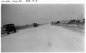 Primary view of object titled '[Construction on U.S. Highway 79]'.