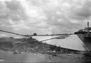 Primary view of object titled '[Dry Berry Creek Bridge Flood Damage]'.