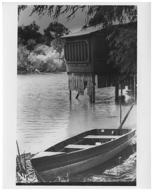 Primary view of object titled '[Boat House on White Rock Lake]'.