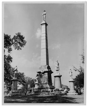 Primary view of object titled '[The Confederate Memorial at Pioneer Park]'.