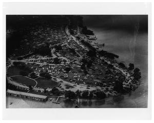 Primary view of object titled '[Aerial View of White Rock Lake]'.