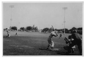 Primary view of object titled '[Baseball Game at Samuell Grand]'.
