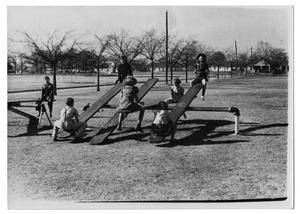 Primary view of object titled '[Teeter-Totters at Exline Park]'.