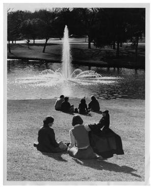 Primary view of object titled '[Memorial Fountain at Lee Park]'.