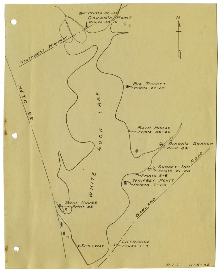 Map Of White Rock Lake The Portal To Texas History