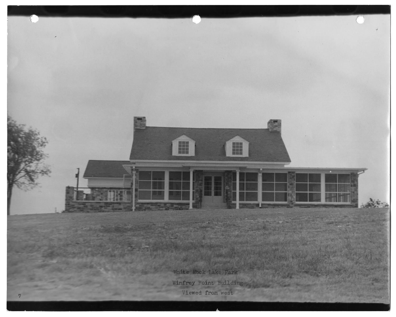 [Photograph of Winfrey Point Building at White Rock Lake Park]                                                                                                      [Sequence #]: 1 of 2