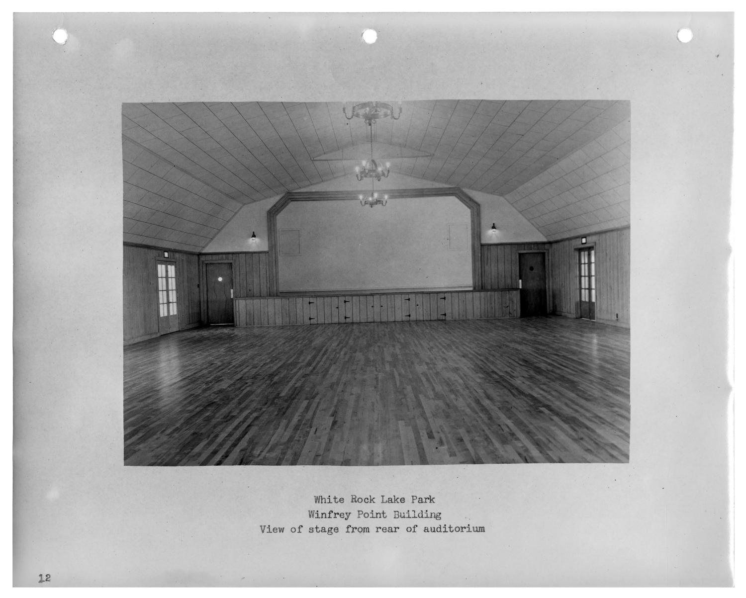[Photograph of Winfrey Point Building Auditorium]                                                                                                      [Sequence #]: 1 of 2
