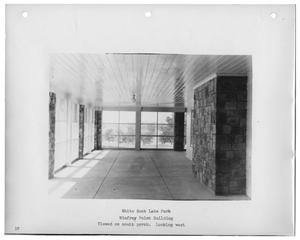 Primary view of object titled '[Photograph of Winfrey Point Building South Porch]'.