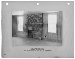 Primary view of object titled '[Photograph of Winfrey Point Building Fireplace]'.