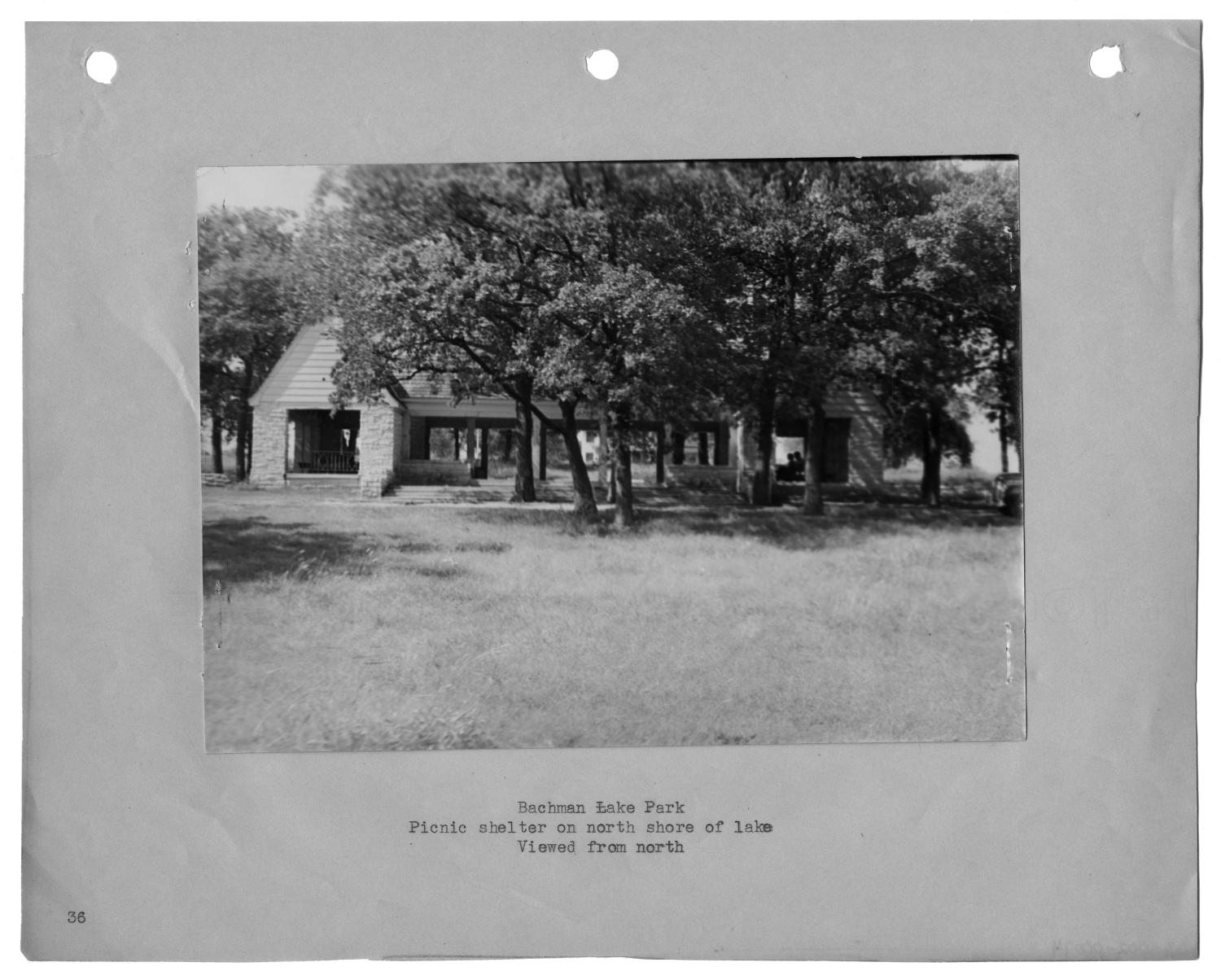 [Photograph of Bachman Lake Park Picnic Shelter]                                                                                                      [Sequence #]: 1 of 2