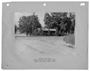 Primary view of object titled '[Photograph of Bachman Lake and Comfort Station]'.