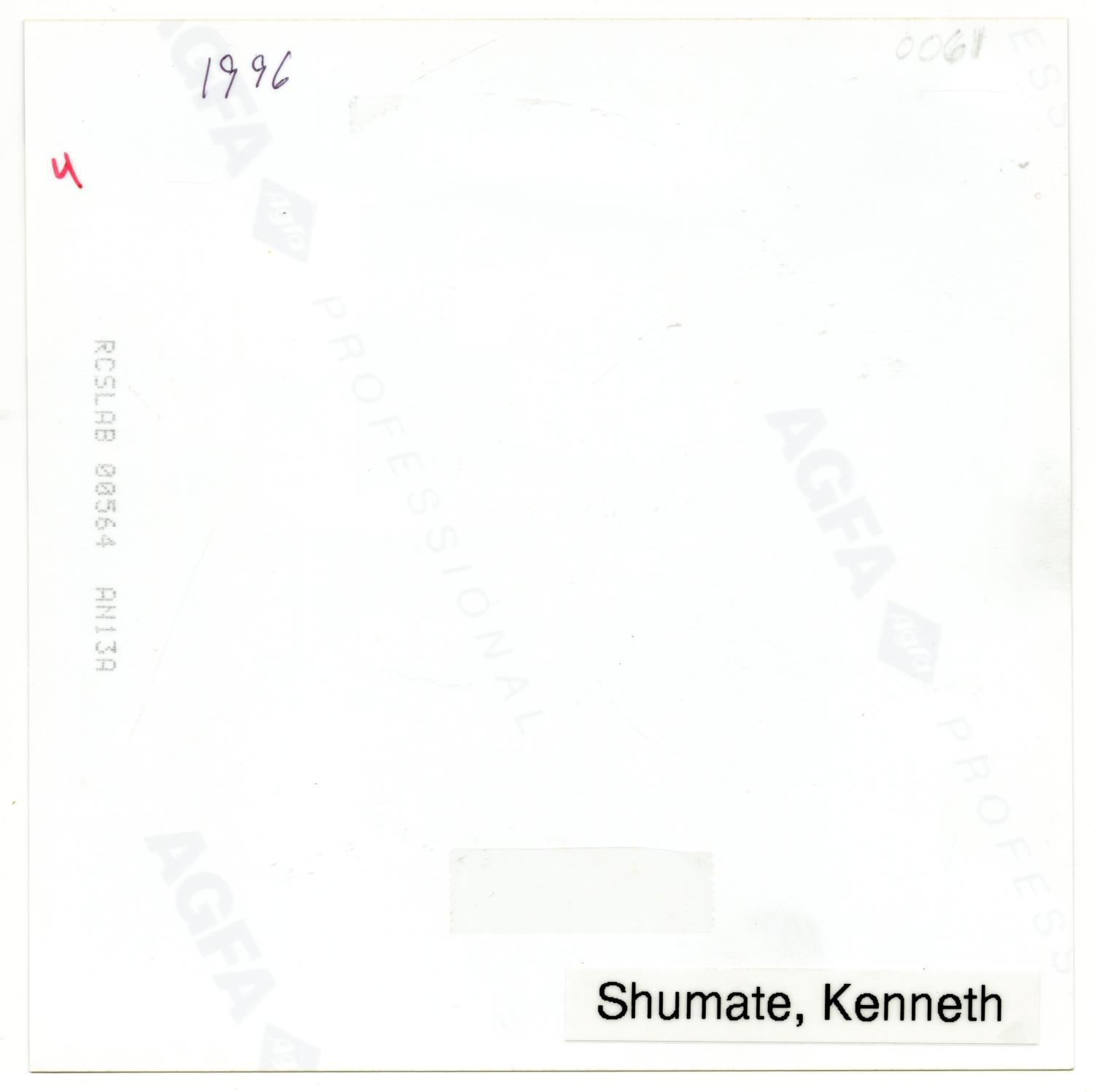 [Photograph of Dr. Kenneth M. Shumate]                                                                                                      [Sequence #]: 2 of 2