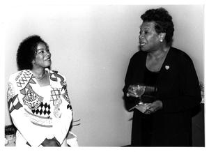 Primary view of object titled '[Photograph of Dr. Sandra Mayo and Maya Angelou]'.