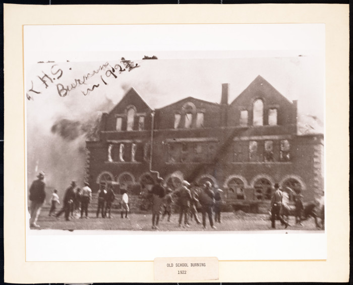 Killeen High School Burning in 1922] - The Portal to Texas History