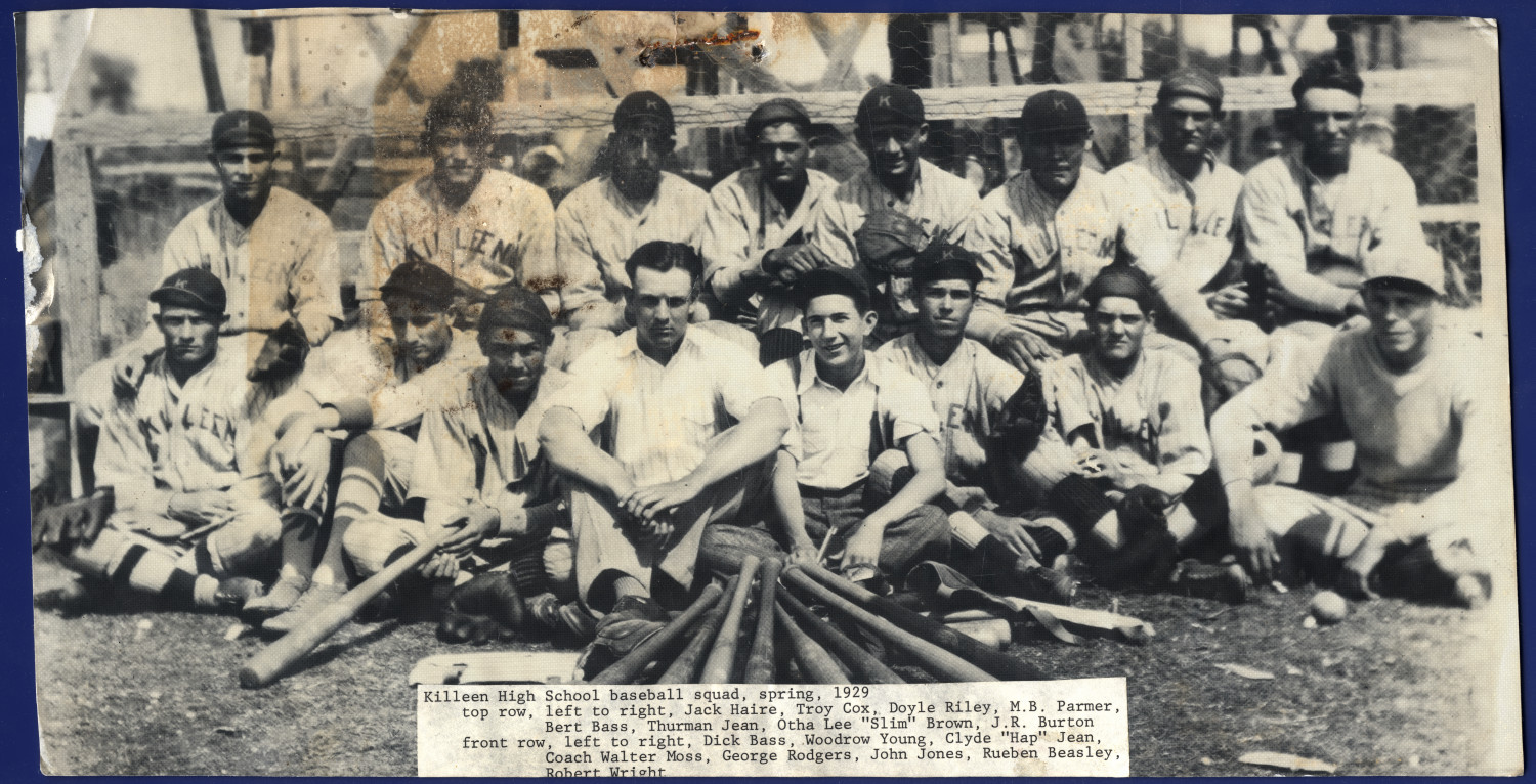 [Killeen High School Baseball Squad, 1929]                                                                                                      [Sequence #]: 1 of 1